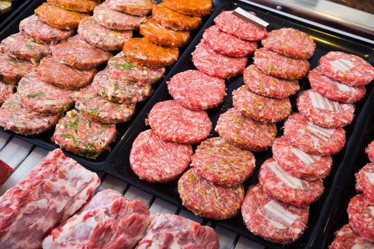 hamburguesa assort on counter