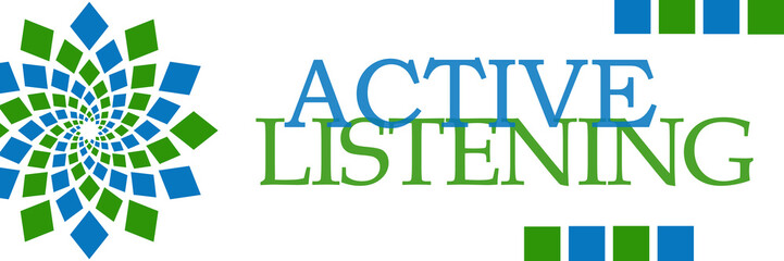 Active Listening Green Blue Circular Horizontal