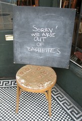 Sorry! We are Out of Baguettes Sign