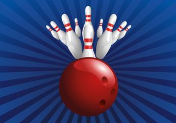 bowling - quilles - fond - concept - réussite - succès