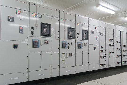 Inside Electrical energy distribution substation