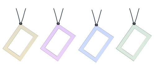 quadro vetro catenina catena pendolo trasparente