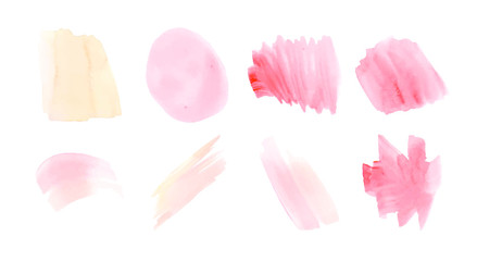 Vector set of various paint strokes and splashes