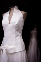 White basic wedding dress