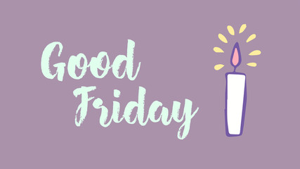 Greeting card with good friday message