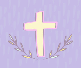 Greeting card with easter cross