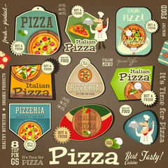 Pizza Stickers Set