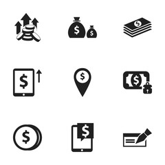 Set Of 9 Editable Investment Icons. Includes Symbols Such As Treasure, Specie, Money-Guard And More. Can Be Used For Web, Mobile, UI And Infographic Design.