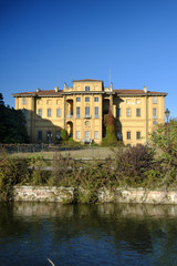 Cernusco sul Naviglio (Italy), canal of Martesana