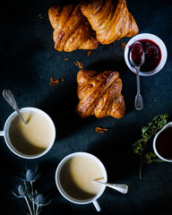 London fog tea and croissants