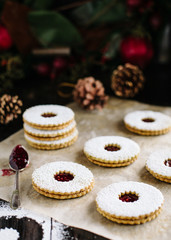 Making and decorating linzer cookies