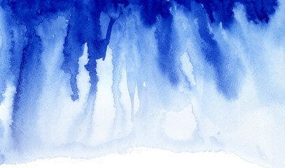 Blue watercolor texture streaks