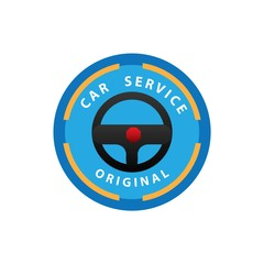 car service logo, vector illustration