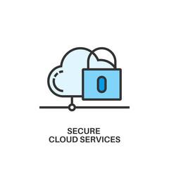 secure cloud services icon