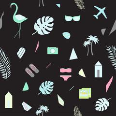 Scandinavian summer abstract background. Vector illustration.