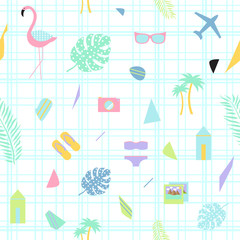 Scandinavian summer abstract background. Vector illustration.