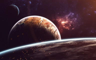 Cosmic art, science fiction wallpaper. Beauty of deep space. Billions of galaxies in the universe....