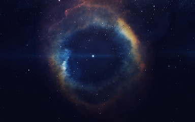 Fotobehang Nasa Cosmic art, science fiction wallpaper. Beauty of deep space. Billions of galaxies in the universe. Elements of this image furnished by NASA