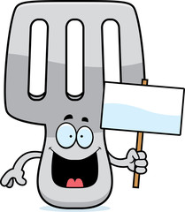 Cartoon Spatula Sign