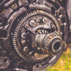 Mechanical auto engine parts.