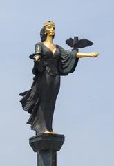 Saint Sofia statue in the center of Sofia city, Bulgaria