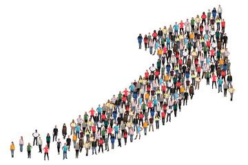 Menschen Gruppe Leute Menschengruppe Erfolg Wirtschaft Wachstum erfolgreich Strategie Business