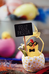 text feliz pascua, happy easter in spanish