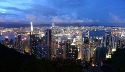 Hong Kong panorama at night
