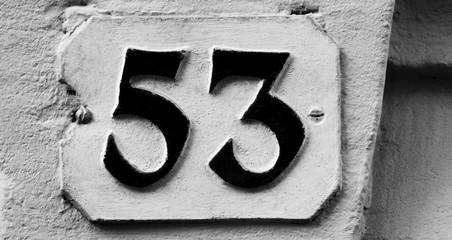 Hausnummer 53