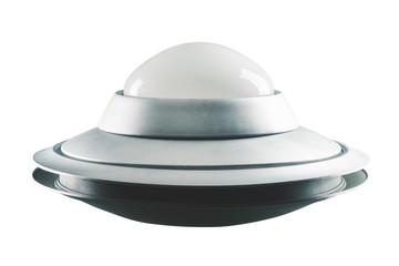 In de dag UFO Classic, Retro UFO isolated on white