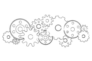 Gear wheel concept isolated on background - Technology concept