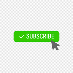 Subscribe symbol. Ideal for video streaming website banners, blogs, content updates and news feed