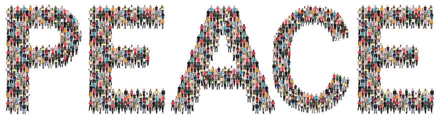 Peace Frieden Friede Leute Menschen People Gruppe Menschengruppe