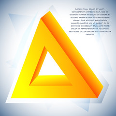 Delta icon for your business promotional artwork. Abstract triangular graphic design for flyers, banners, presentations. Vector illustration.