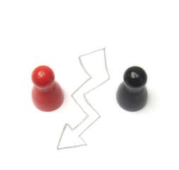 Spielfiguren als Symbol for CSU und SPD