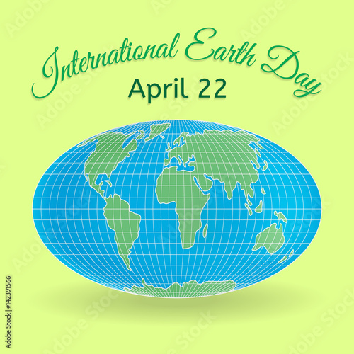 International Mother Earth Day Theme 3d Globe Or World Map As A