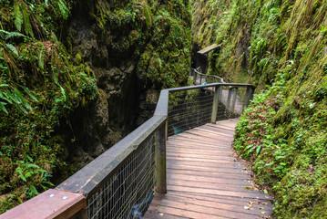 Footbridge in Kakueta Canyon, Aquitaine, France