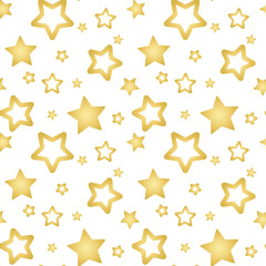 gold stars on a white background pattern seamless vector