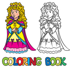 Coloring book of Beauty fairy queen or princess
