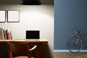 Tuinposter Fiets urban apartment home office vintage bike