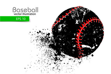 silhouette of a baseball ball. Vector illustration
