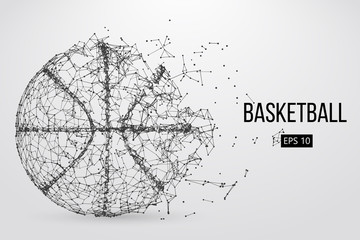Silhouette of a basketball ball. Vector illustration