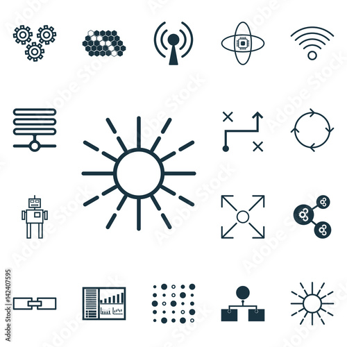 Set Of 16 Machine Learning Icons  Includes Variable