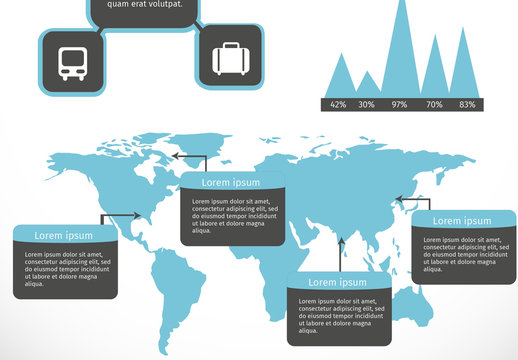 Basic Business and Travel Infographic 1