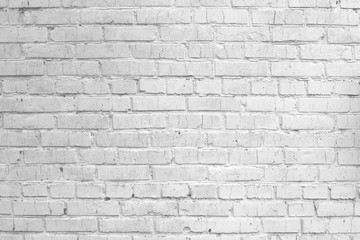 White grunge painted brick wall