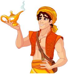 Printed kitchen splashbacks Fairytale World Aladdin and the Wonderful Lamp