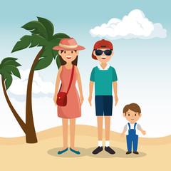 family vacations avatars icon