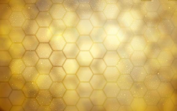 golden beehive background