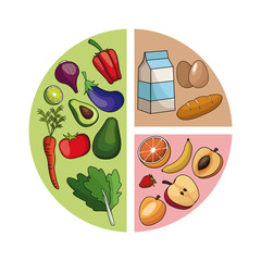 diagram healthy food image vector illustration eps 10