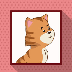 cute tiger frame picture vector illustration eps 10